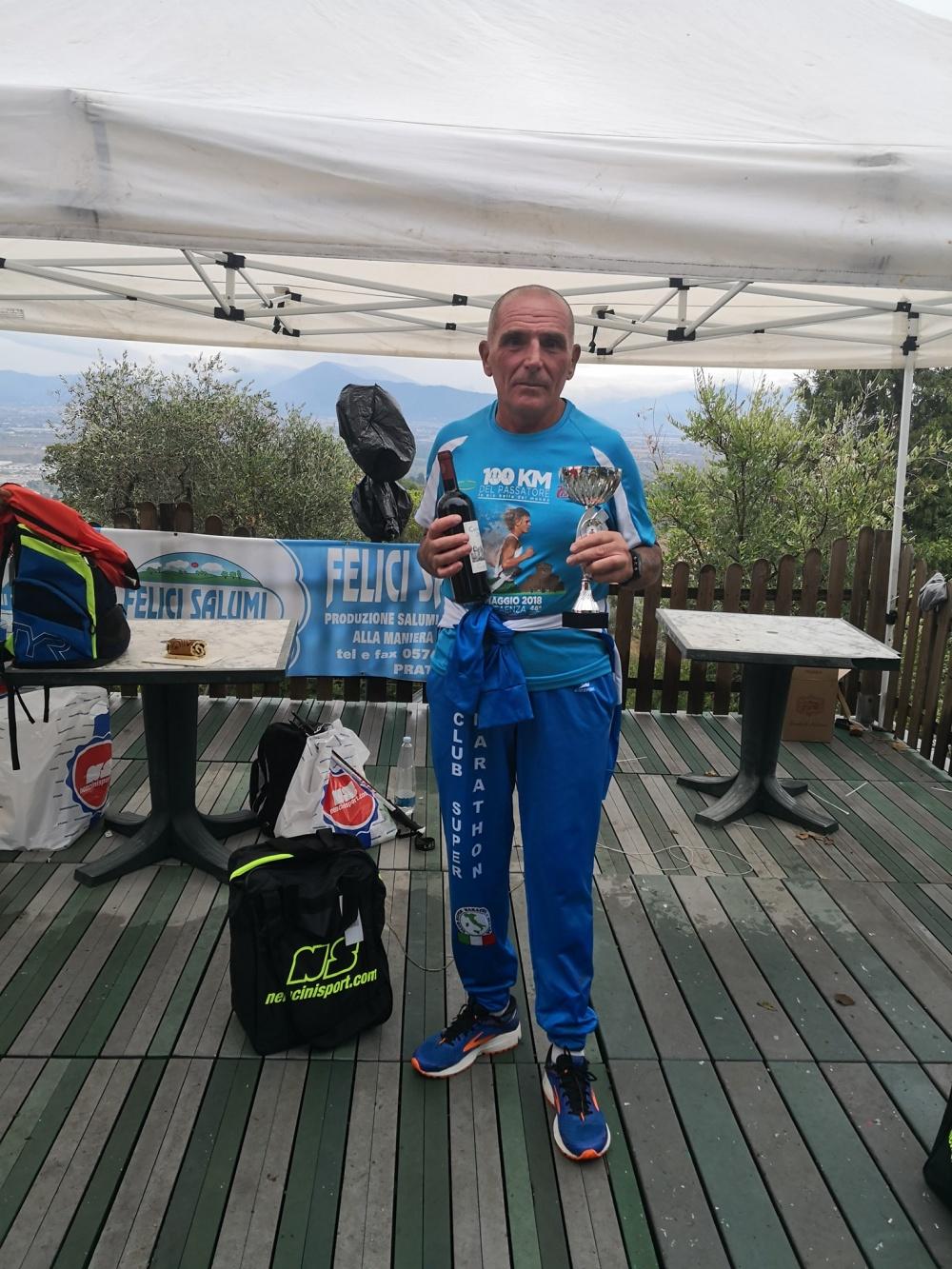 Il nostro ultra-donatore Roberto Periti - Primo maschio assoluto alla 6 ore del Campano (Carmignano, PO)