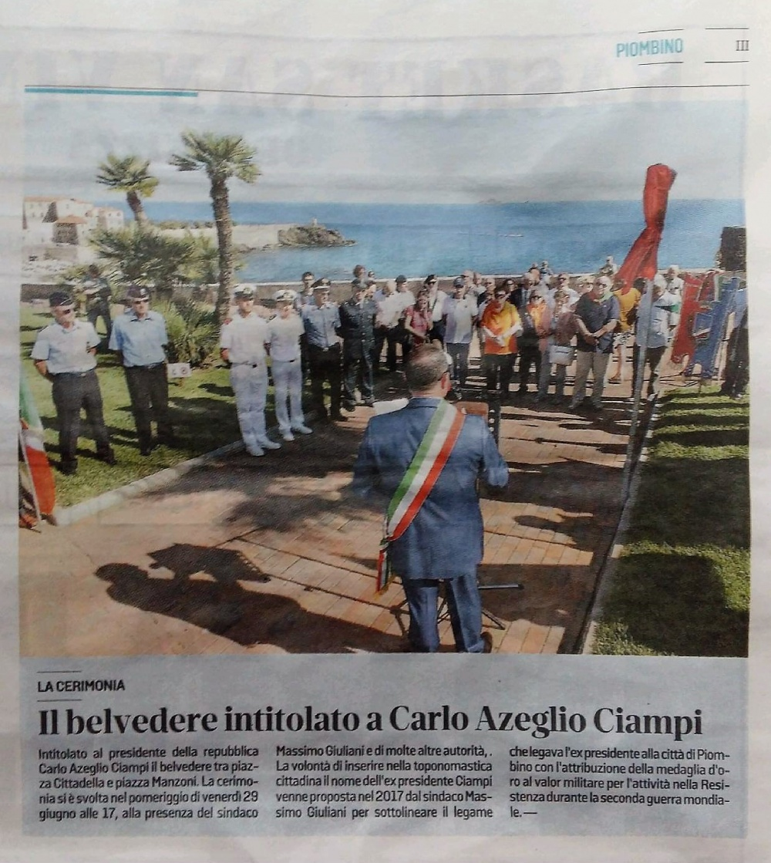"""Articolo di giornale da """"Il Tirreno"""", sabato 30 giugno 2018, Piombino III"""