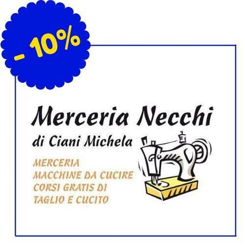 Merceria Necchi - Via Copernico 2, Piombino - (Lo sconto si applica su tutti gli articoli ad esclusione delle macchine da cucire)