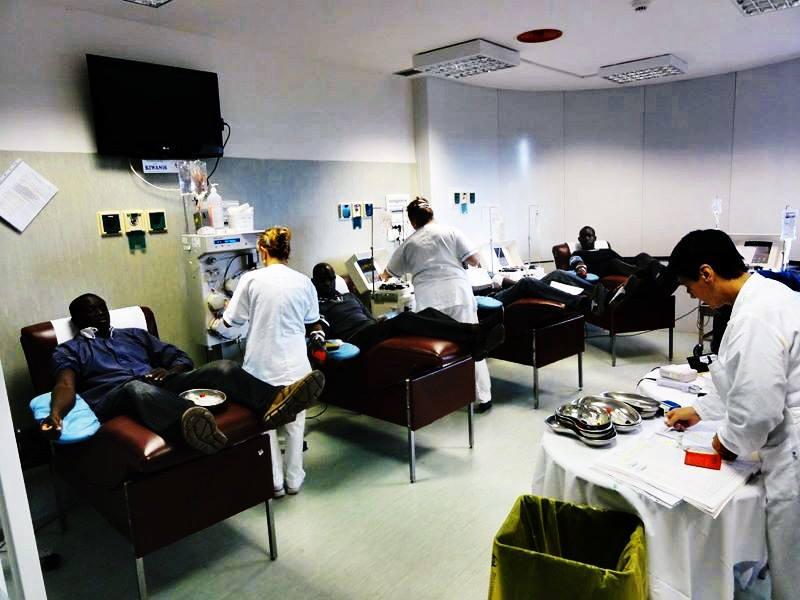 Donatori della comunità senegalese al Centro Trasfusionale